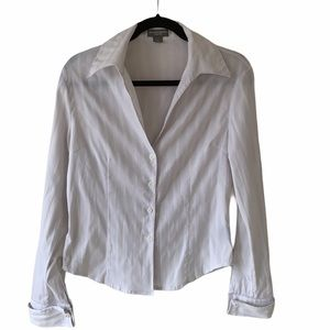 Beechers Brook White Button Down Shirt-M